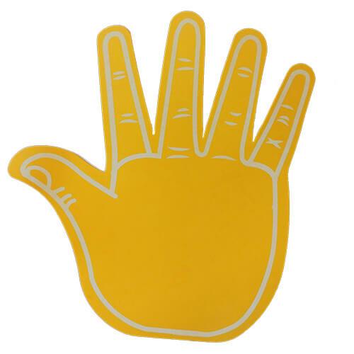 Foam hand high 5 geel