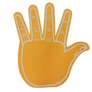 Foam hand high 5 oranje