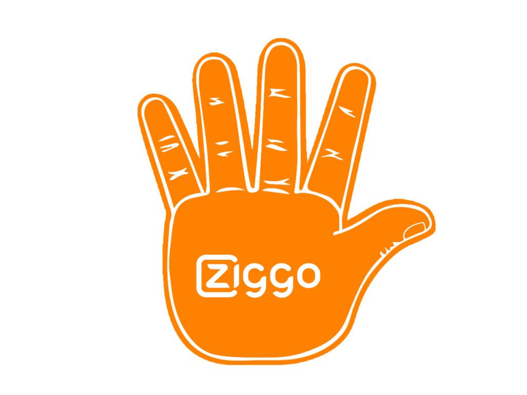 Foam-hand-high5-orange-ziggo