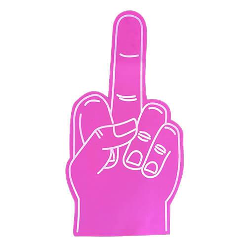 Foam hand middelvinger roze