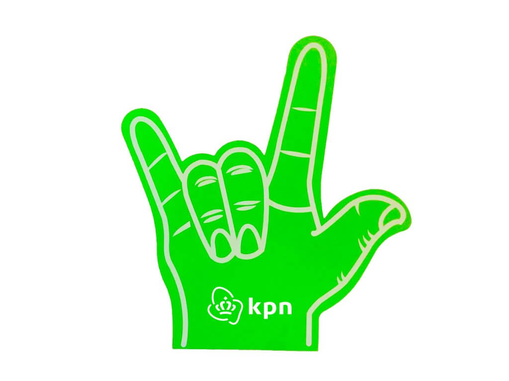 Foam-hand-rock-hand-green-kpn