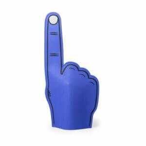 Foam-hand-wijsvinger-blauw