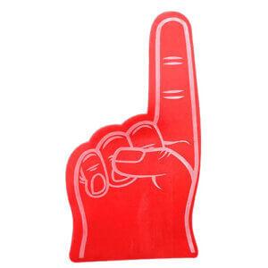 Foam hand wijsvinger klein rood